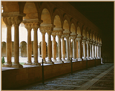 The eleventh-century cloister of the Abbey of Silos, Spain. � Photo by Ronald Davis.