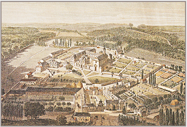 The Abbey of La Trappe from an eighteenth-century engraving. Courtesy of the Abbey of La Trappe.