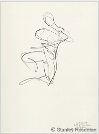 "Drawing by Stanley Roseman, ""Kader Belarbi,"" Paris Opéra Ballet, 1996, Pencil on paper, Teylers Museum,The Netherlands. © Stanley Roseman."