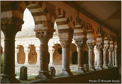 The Romanesque cloister of San Pedro de Cardeña, Castile, 1998. © Photo by Ronald Davis.