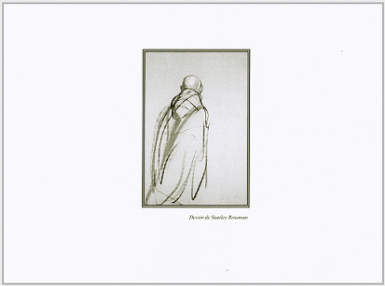 Back cover of the Music Book for Lauds and the Mass, General Chapter of the Order of Cistercians of the Strict Observance, 2011. Back cover reproduces a drawing by Stanley Roseman from the Abbey of La Trappe. Drawing © Stanley Roseman