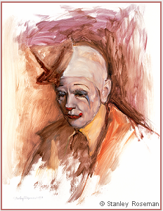 Painting by Stanley Roseman of Frosty Little, Director of Clowns, Ringling Bros. and Barnum & Bailey Circus, 1977, Musée des Beaux-Arts, Bordeaux. © Stanley Roseman