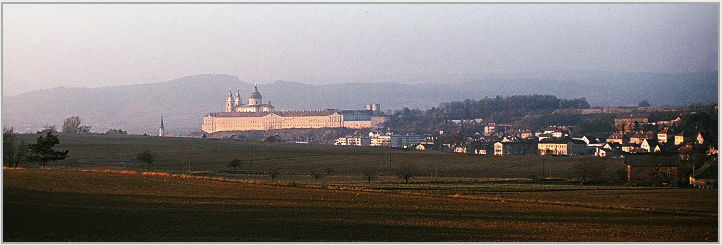 Abbey of Melk above the Danube, Austria, 1978. © Photo by Ronald Davis.