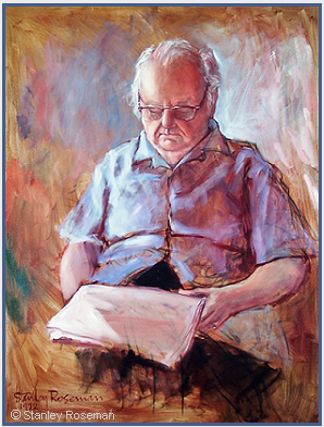 Portrait by Stanley Roseman of Virgil Thomson, 1972, oil on canvas. Collection of the artist. © Stanley Roseman