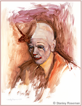 Painting by Stanley Roseman of Frosty Little, Director of Clowns, Ringling Bros. and Barnum & Bailey Circus, 1977, Musee des Beaux-Arts, Bordeaux.