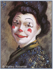 Painting by Stanley Roseman of Ruth Chaddock, Ringling Bros. and Barnum & Bailey Circus, 1976, Private collection, Switzerland. © Stanley Roseman