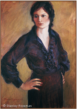 Portrait by Stanley Roseman of Emilia, 1973, oil on canvas. Private collection New York. © Stanley Roseman