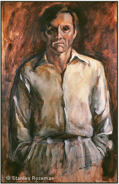 Portrait by Stanley Roseman of Peter, 1977, oil on canvas, Private collection, Connecticut. © Stanley Roseman.