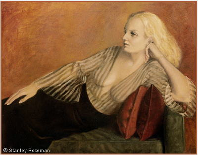 Portrait by Stanley Roseman of Cynthia, 1973, oil on canvas, Private collection, New York. © Stanley Roseman.