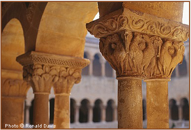 Detail of Capitals in the Romanesque Cloister of Silos. © Photo by Ronald Davis.
