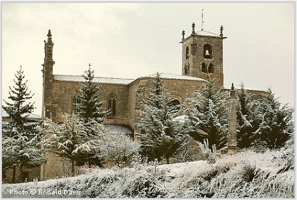 The Abbey of San Pedro de Cardeña, Castile, 1998. © Photo by Ronald Davis.