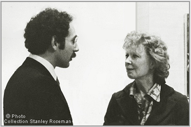 "Stanley Roseman and Gwen Verdon at the opening of the exhibition ""Stanley Roseman - The Performing Arts in America,"" Library and Museum of the Performing Arts, Lincoln Center, 1977. © Stanley Roseman"