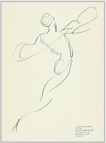 "Drawing by Stanley Roseman, ""Mikhail Baryshnikov,"" 1975, American Ballet Theatre, pencil on paper, Albertina, Vienna. © Stanley Roseman."