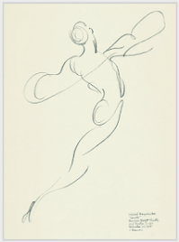 "Drawing by Stanley Roseman, ""Mikhail Baryshnikov,"" 1975, American Ballet Theatre, pencil on paper, Albertina, Vienna. © Stanley Roseman"