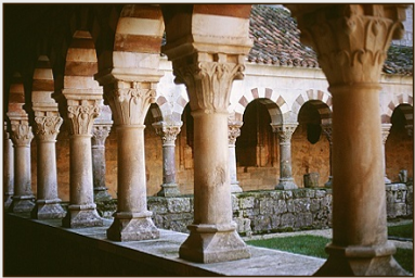 The eleventh-century Romanesque cloister of the Abbey of San Pedro de Cardeña, Castile. © Photo by Ronald Davis