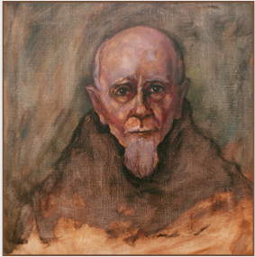 "Painting by Stanley Roseman, ""Père Christian,"" 2002, Abbey of La Trappe, France, oil on canvas, Private collection, Switzerland. © Stanley Roseman."