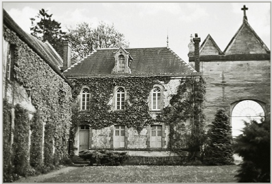 Courtyard of the Abbey of La Trappe with its eighteenth-century stone building where Roseman painted in his studio on the second floor, 2002. © Photo by Ronald Davis