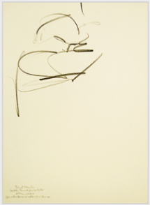 "Drawing by Stanley Roseman, ""Yehudi Menuhin conducting at the Paris Opéra,"" 1993, pencil on paper, Collection Ronald Davis. © Stanley Roseman"