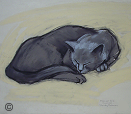"Drawing by Stanley Roseman, ""Monsieur Gris,"" 2007, chalks on paper, Collection of the artist. © Stanley Roseman."